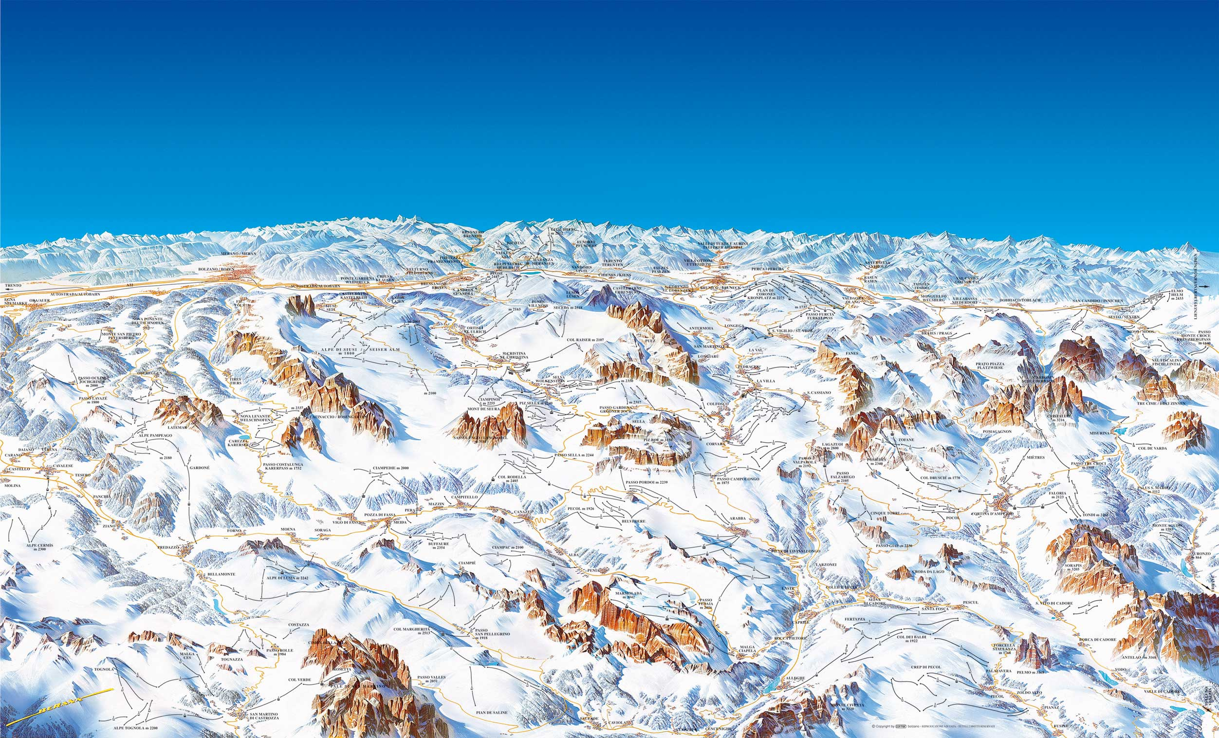 ski map dolomiti superski